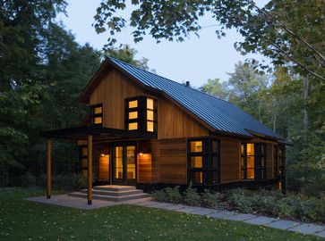 Saltbox House With Porch Design Ideas Pictures Remodel And Decor Page 2 Contemporary Cabin Saltbox Houses Contemporary Cottage