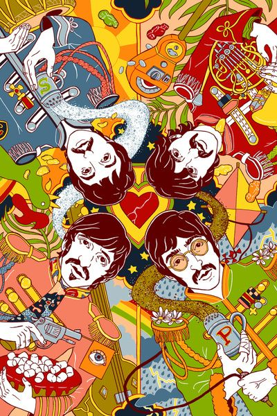 Sgt Peppers Lonely Hearts Club Band Art Print Fabric And
