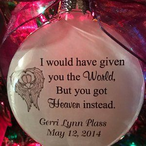 In Memory Ornament, Memories of You Fill My Mind, Mother, Father, Brother Sister, Loved One ...
