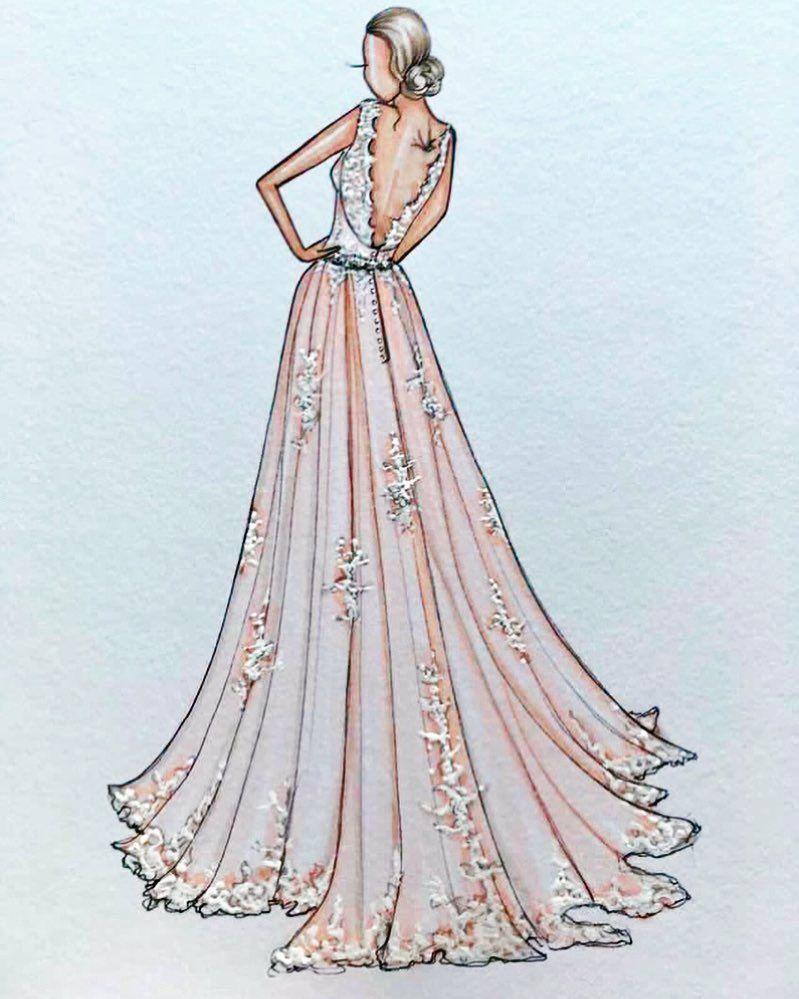 Kerilee gifted her friend a custom bridal illustration this week
