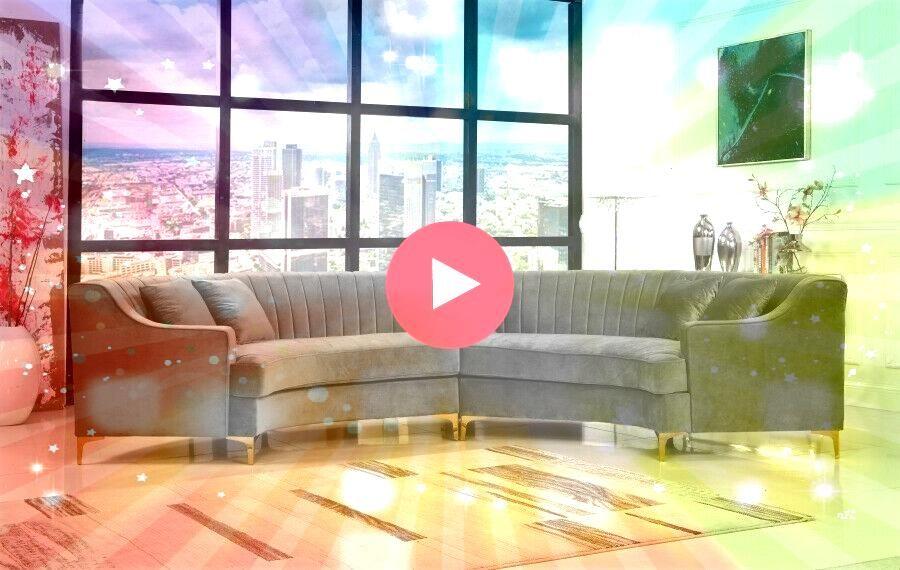Tufting Design Grey Color Contemporary Curved 2piece Sectional Sofa Set  Grey Sofas  Ideas of Grey Sofas  Channel Tufting Design Grey Color Contemporary Curved 2piece Sec...