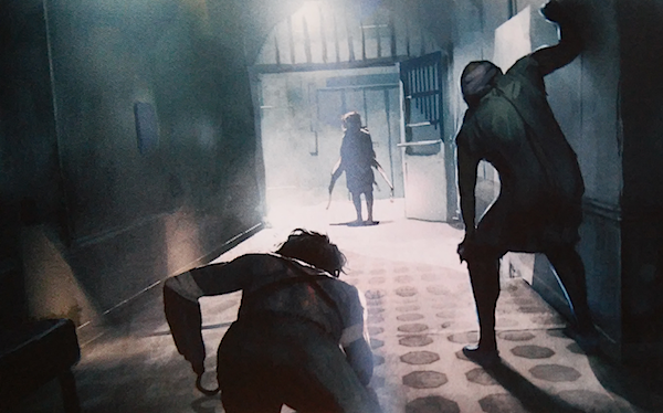 Some concept art from The Phantom Pain prologue.