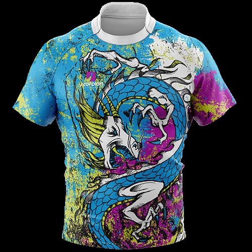 9fe2f16da Rugby Tour Shirt - Dragon Design - Scorpion Sports | Design | Rugby ...