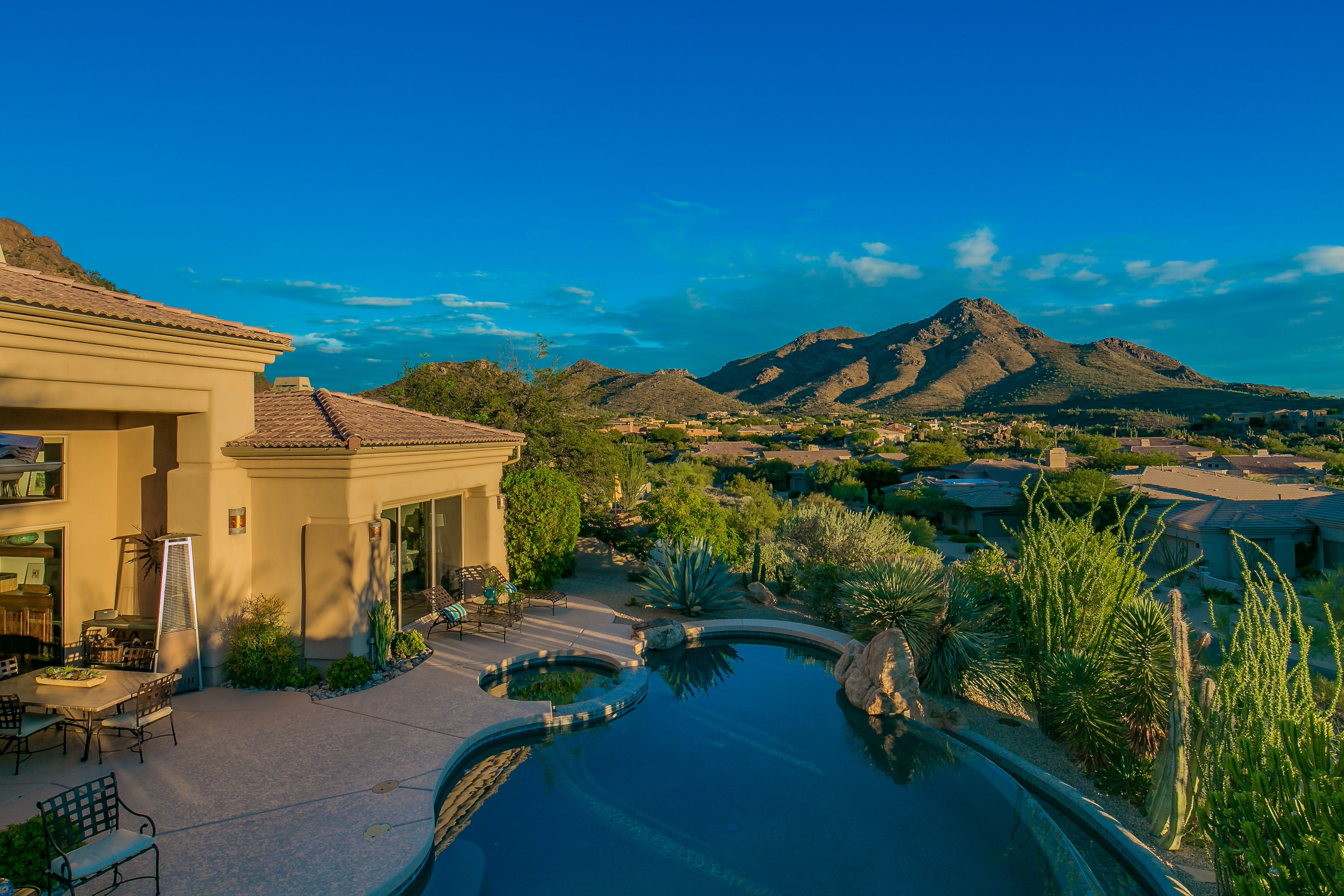 Breathtaking mountain views from this home in Scottsdale