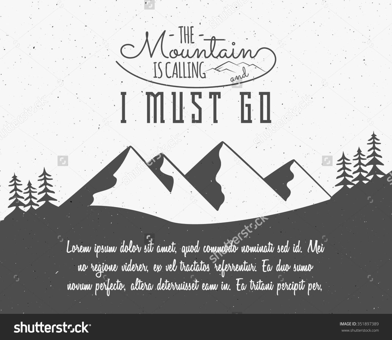 Outdoor Inspiration Background Motivation Brochure Quote Template