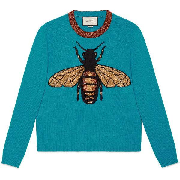 68ab396de8854 Gucci Bee Wool Knit Sweater ( 1