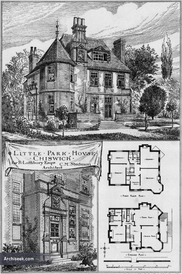 1881 Little Park House Chiswick London Architecture Of London Archiseek Com Vintage House Plans Park Homes Irish Architecture