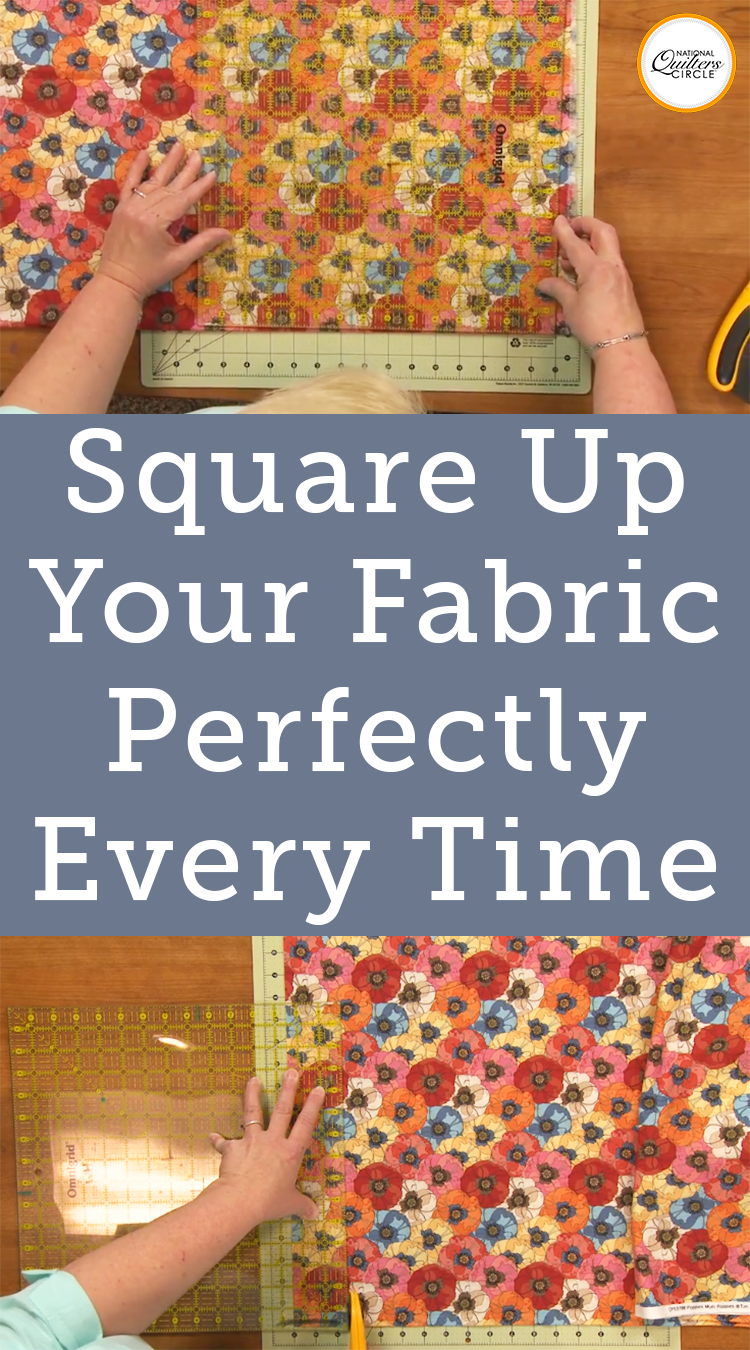 How to Square Up Fabric for Cutting #sewingtechniques