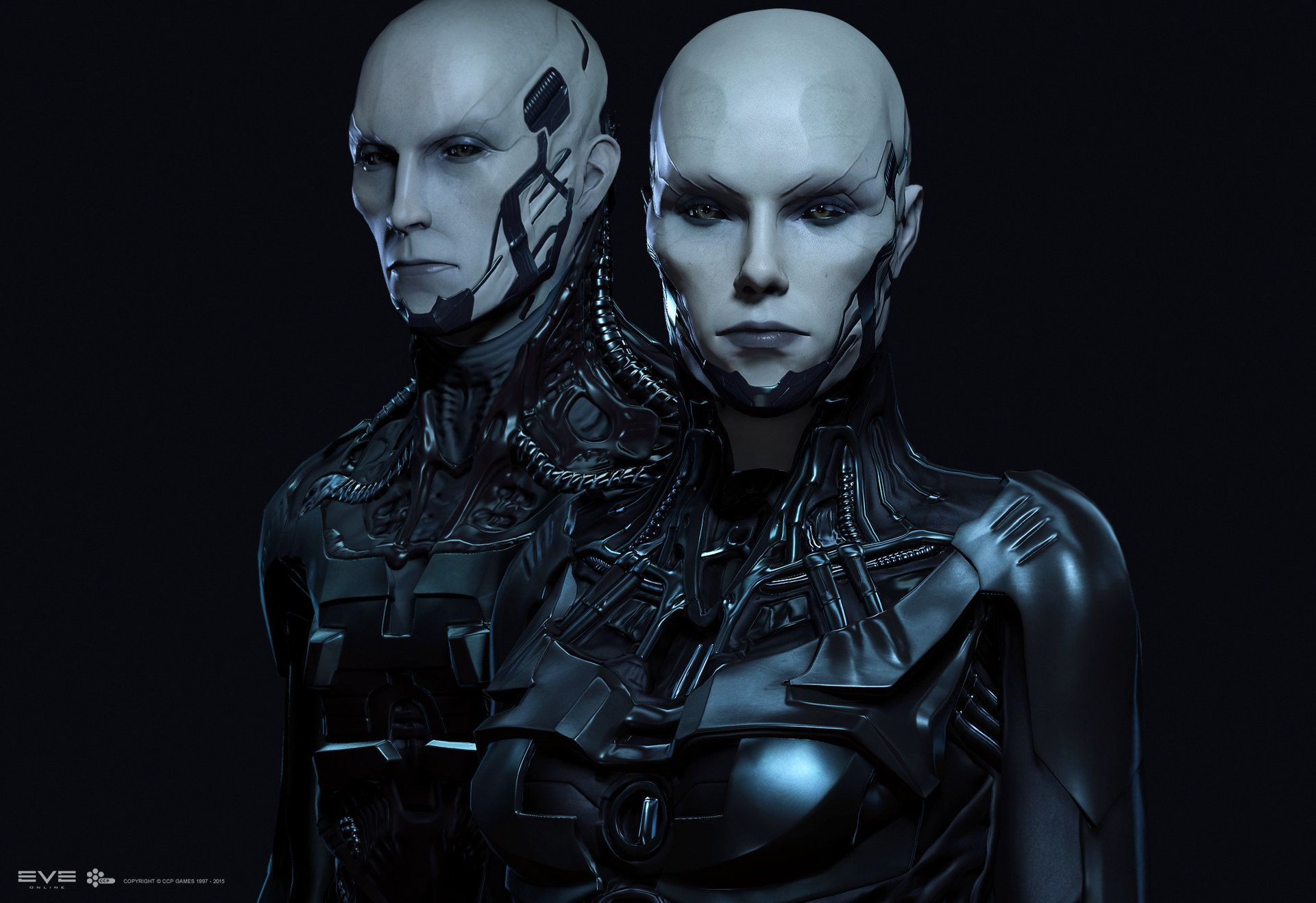 In-game models of The Drifter Bloodlines created for EVE Online. Male model by…