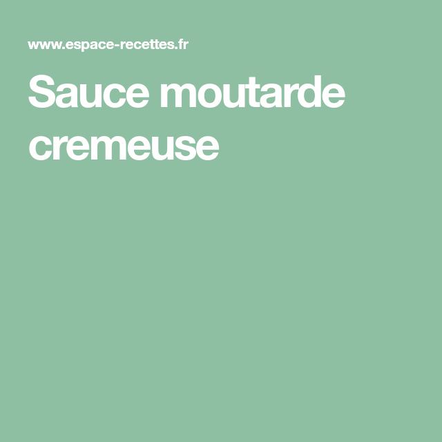 Sauce moutarde cremeuse