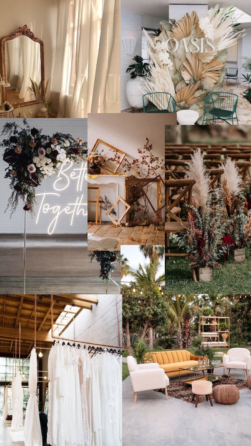 organic weeding, wedding moodboard 2020