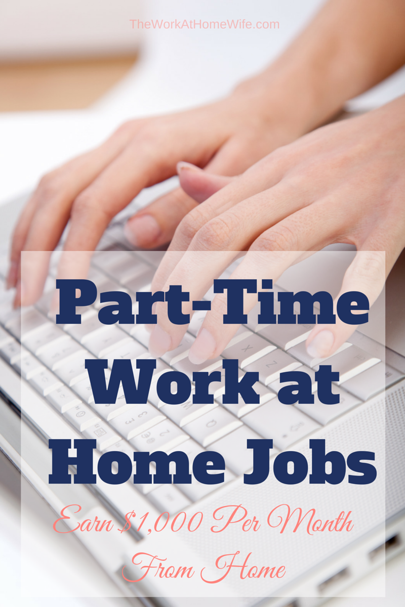 Make A Month Online Part Time Work From Home Ideas