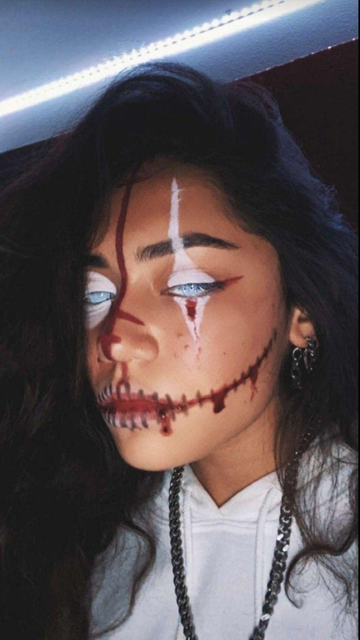 Pin By Nele Jarosz On Tik Tok Halloween Makeup Clown Halloween Makeup Looks Scary Clown Makeup