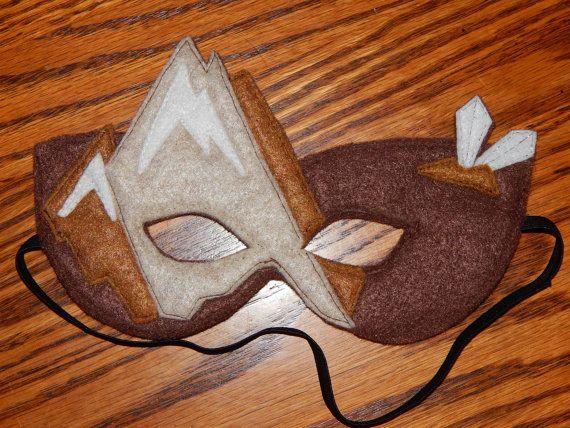 Earth Skylander  Earth Fairy Felt Mask or by OurCozyCreations, $15.00