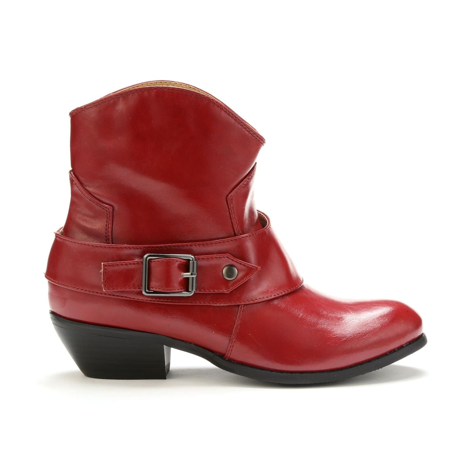 0d9e928b1df Western Short Boot by Seventh Avenue   Monroe & Main   Red Cowgirl ...