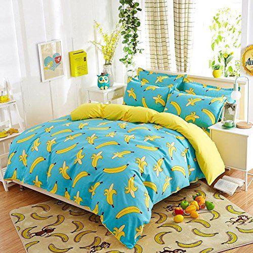 Lovolife Banana Duvet Cover Set Bedding Set Twin Bed Linens Luxury Bedding Sets Cheap Bedding Sets