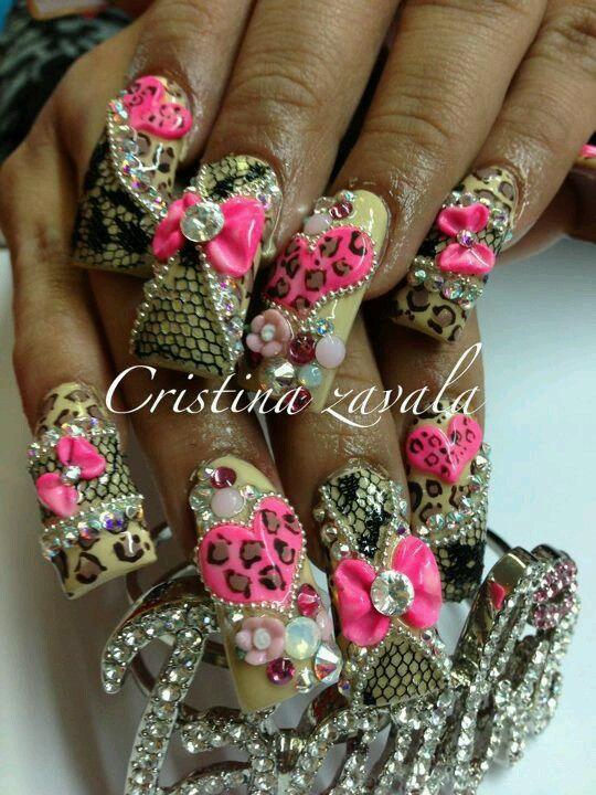 Omg I can't handle it so much bling - Estilo Sinaloa Uñas Espectaculares Pinterest Bling Nails