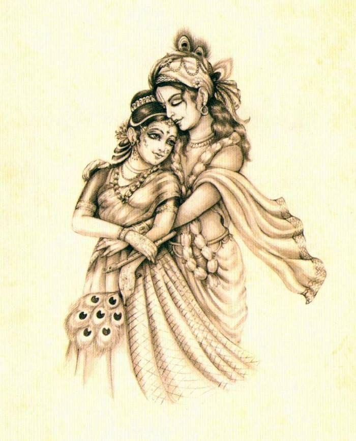 Divine Love Krishna Art Krishna Tattoo Krishna Painting