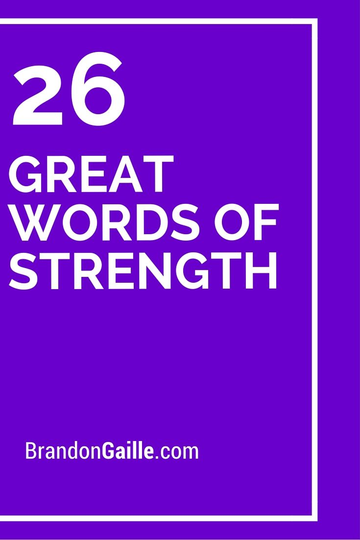 26 great words of strength strength card sentiments and cards 26 great words of strength kristyandbryce Image collections
