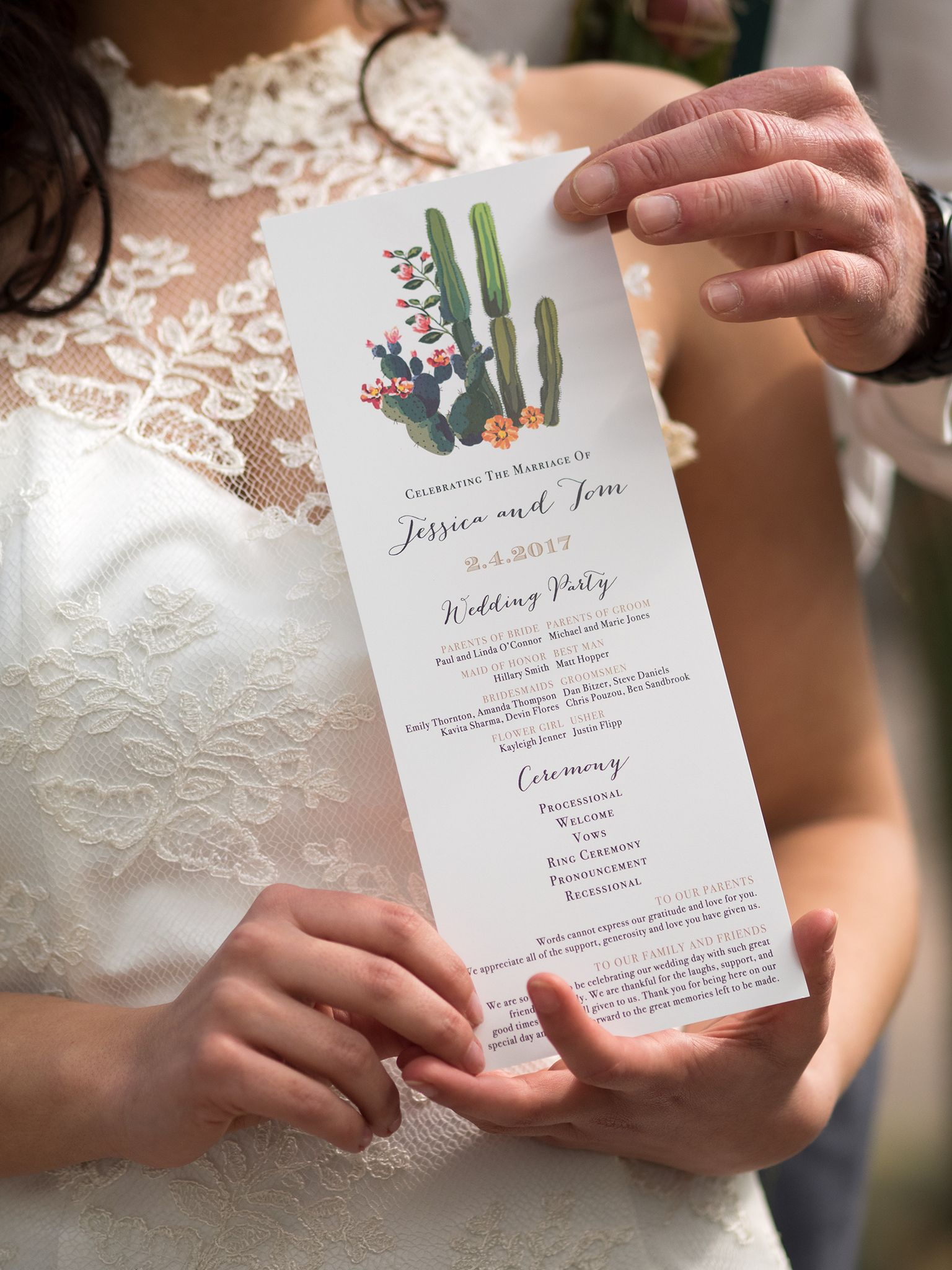 Desert Love Customizable Flat Ceremony Programs With Images