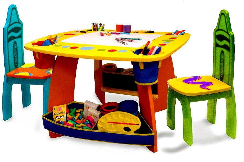 Tremendous Wooden Table And Chair Set Crayola Crayon For All Children Ocoug Best Dining Table And Chair Ideas Images Ocougorg