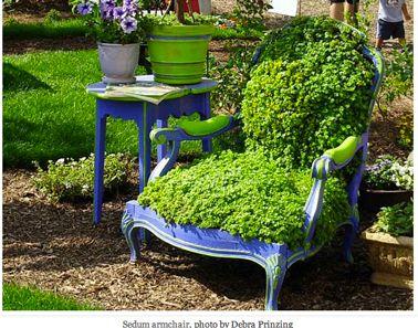 Faire balançoire et jardinière avec une chaise de récup | Fauteuil ...