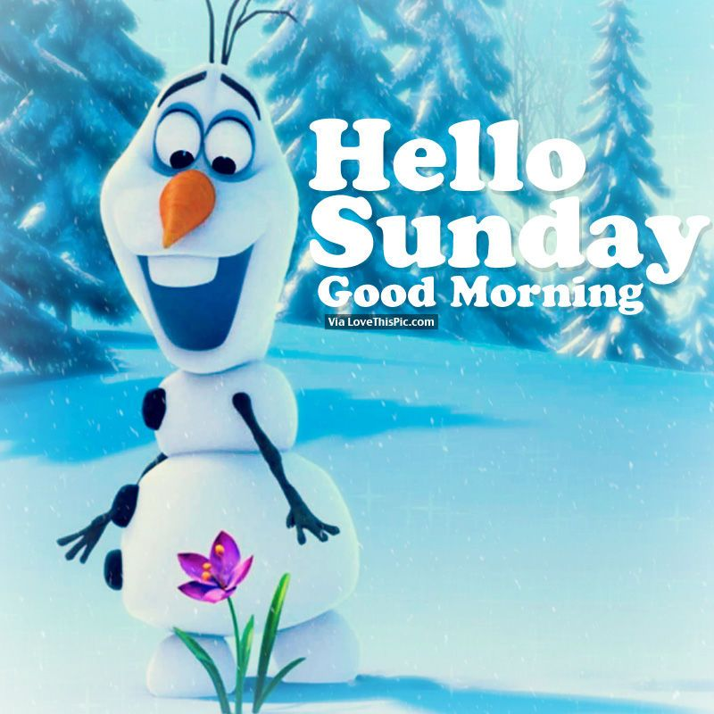 Good Morning Sunday Winter : Hello sunday good morning winter cold and snow