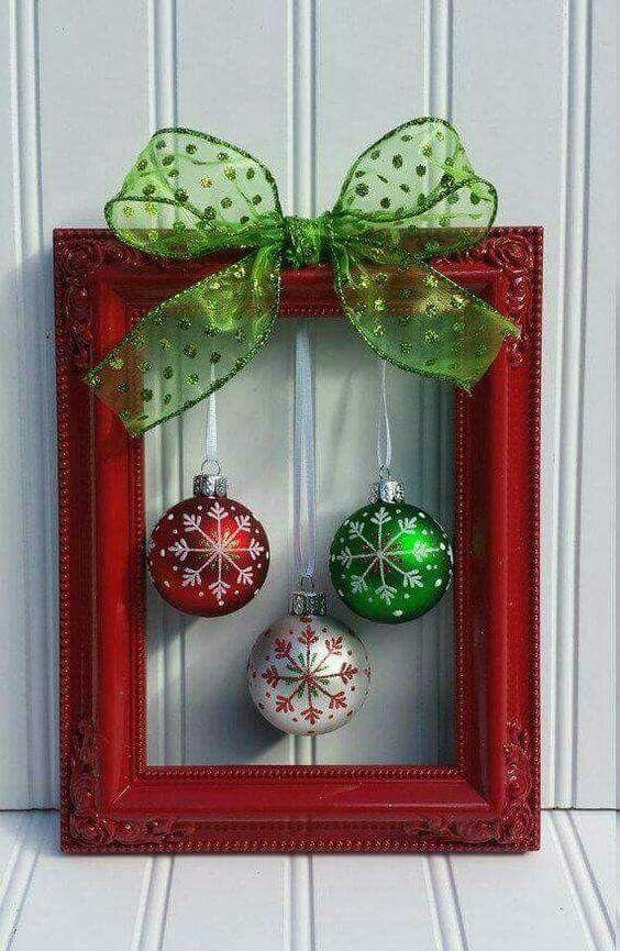 Marco navideño | Navidad | Pinterest | Marcos navideños, Marcos y ...
