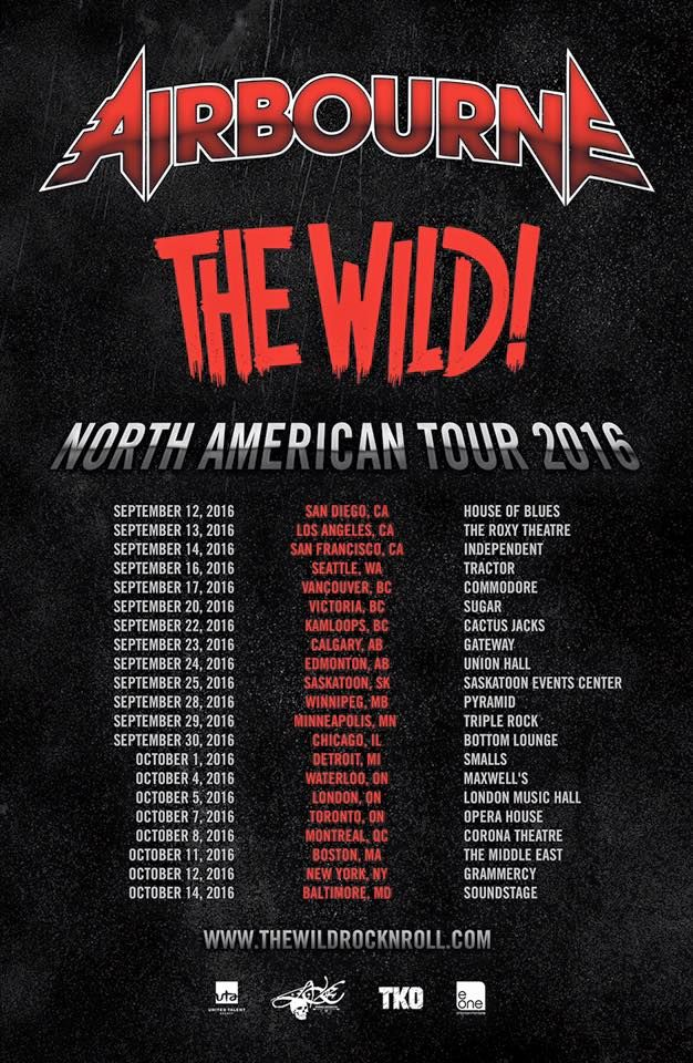Airbourne tour dates
