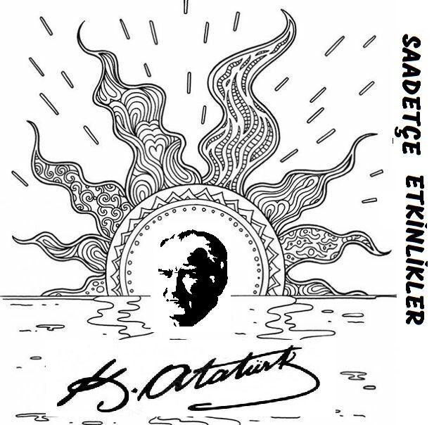 Fadim Un Adli Kullanicinin 19 Mayis Ataturk U Anma Genclik Ve Spor Bayrami Panosundaki Pin Boyama Sayfalari Mandala Sanat Etkinlikleri
