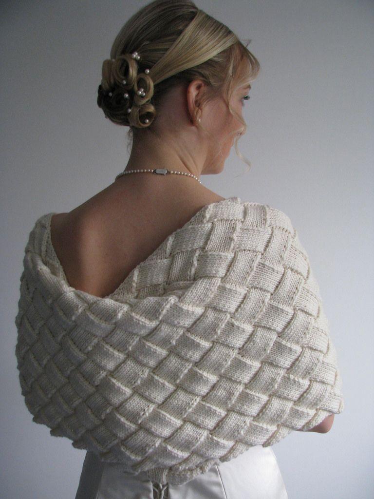 Wedding entrelac shrug pattern by Alex Lawson | Shrug ...