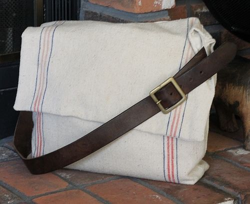 the crafty cpa: return on creativity: feed sack messenger bag