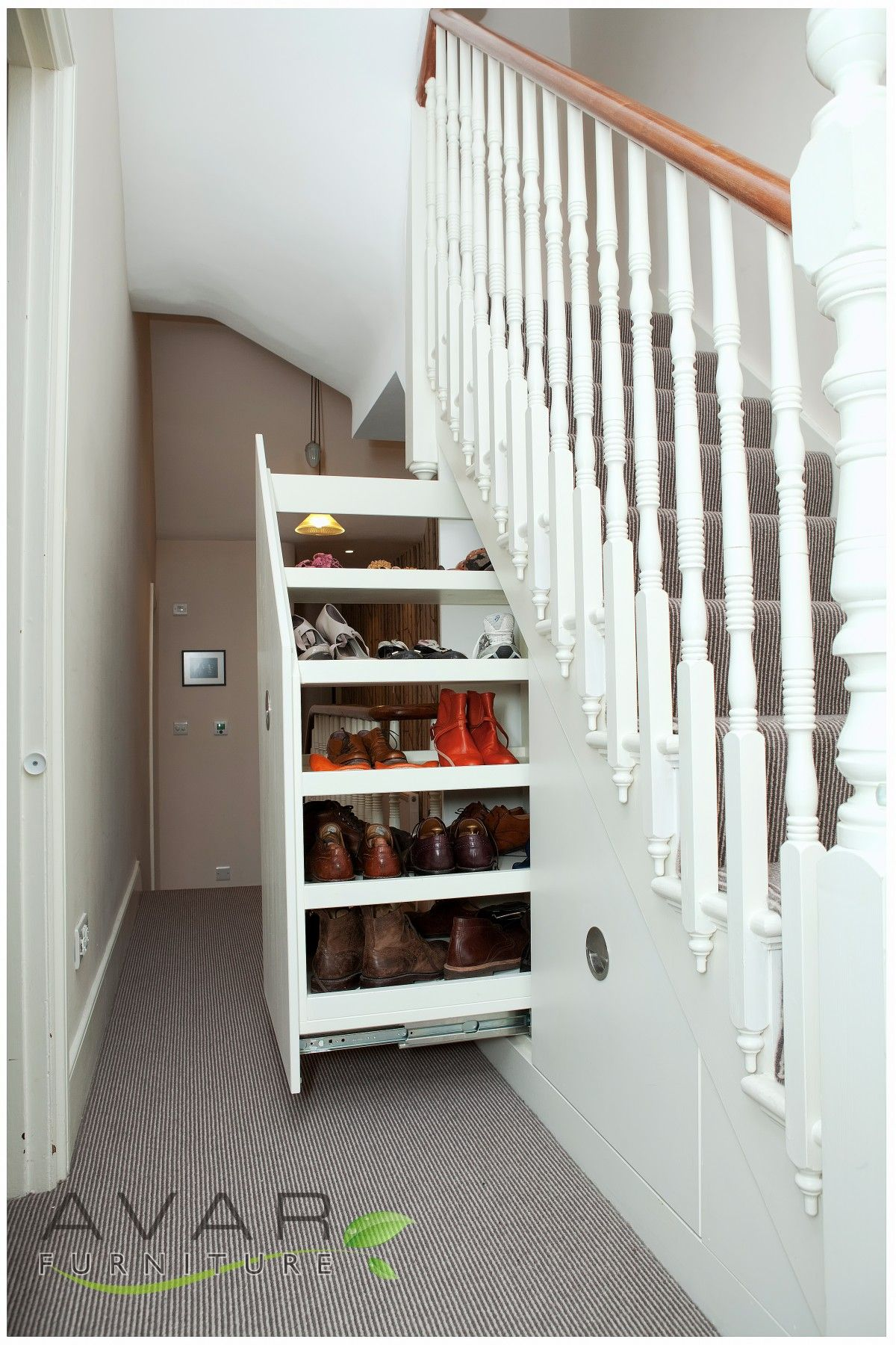 Under Stairs Shelving Unit appealing decoration under stairs storage ideas with hand painted