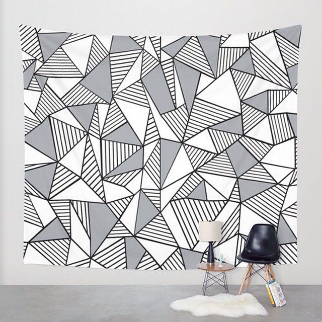 Tapestry Tumblr Black And White