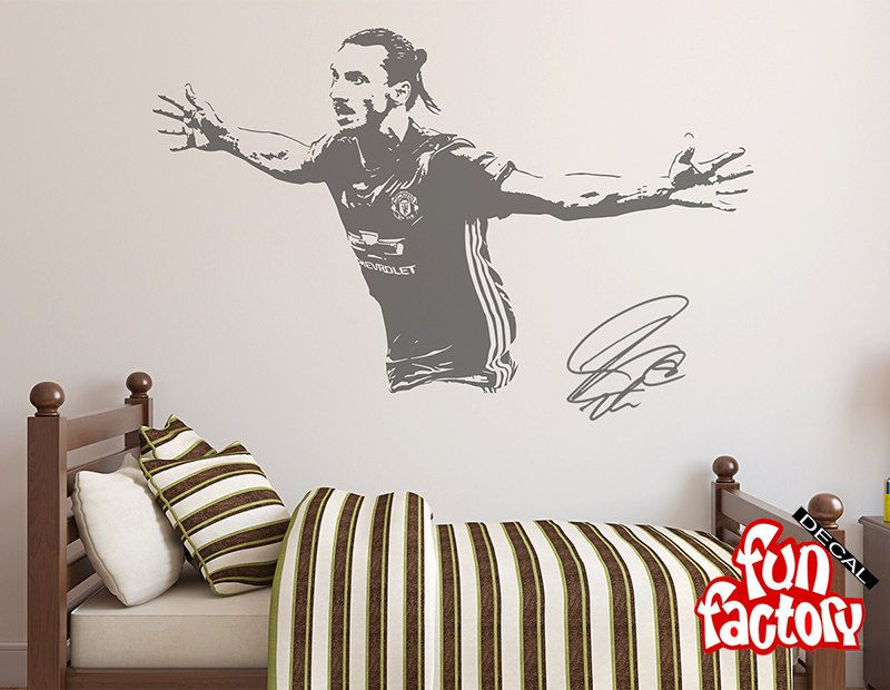 zlatan ibrahimovic wall decal sticker football soccer player sweden