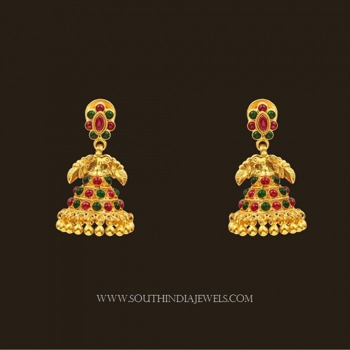 Gold Jhumka Designs with Weight and Price | Ear rings, Gold and Bangle