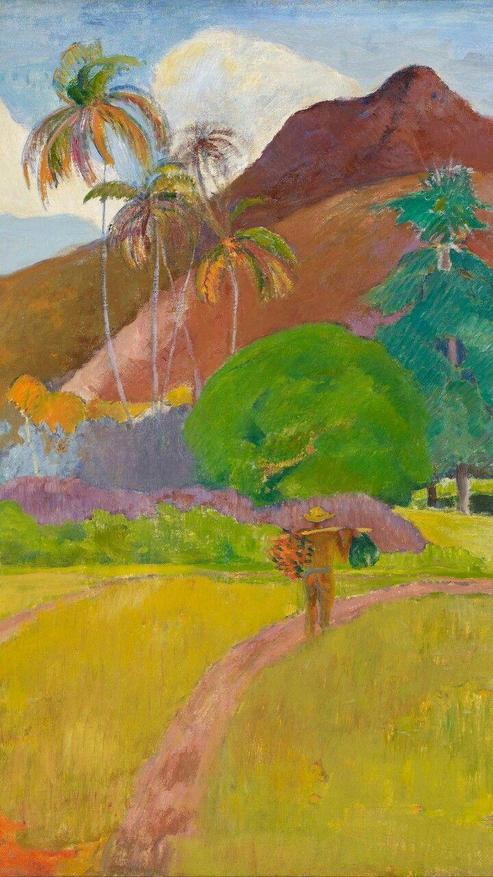 高更名画塔希提的风景(1897) Paul gauguin, Iphone wallpaper, Art