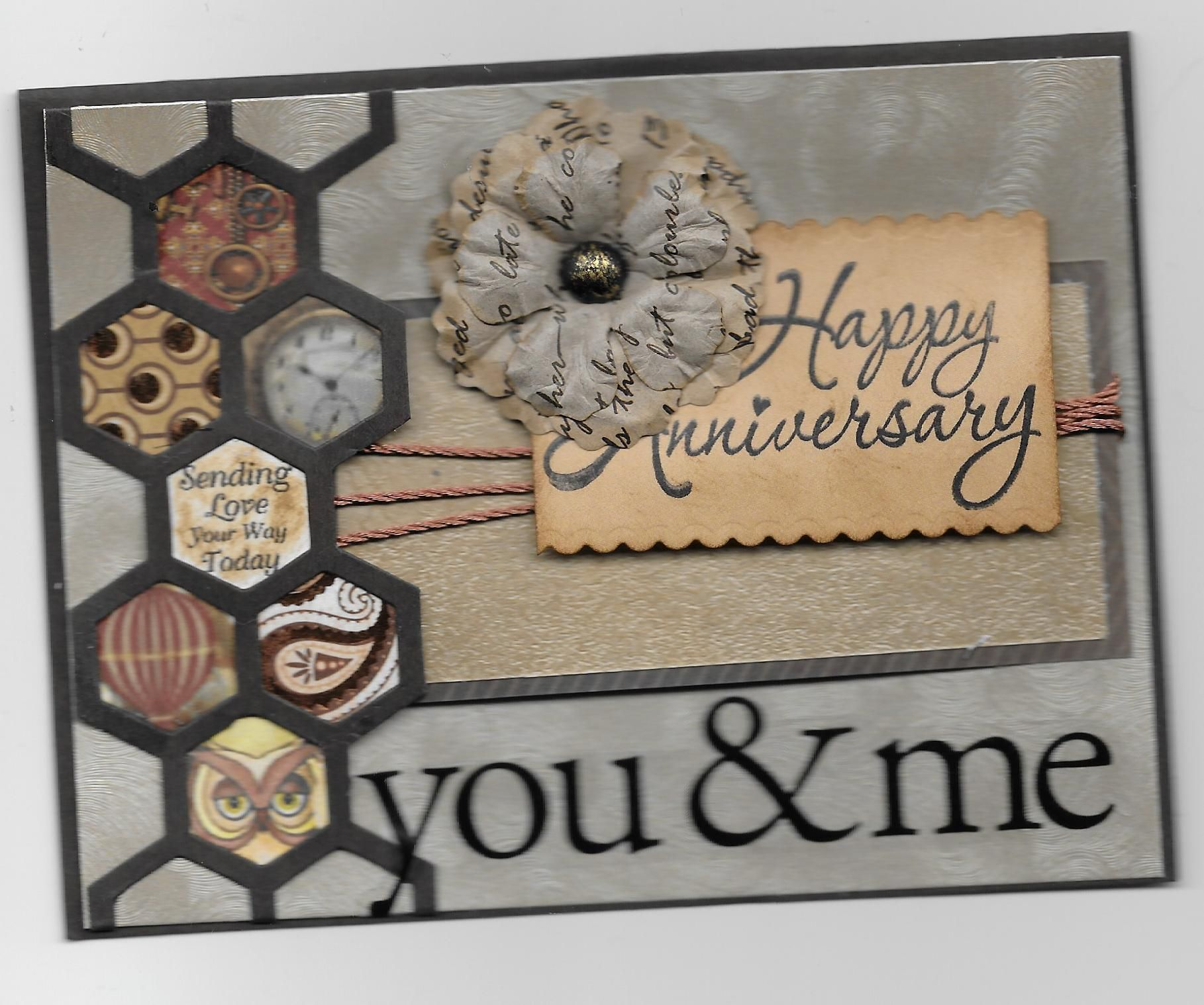 10 HAPPY ANNIVERSARY Sentiment Banners Card Making Scrapbook Embellishments