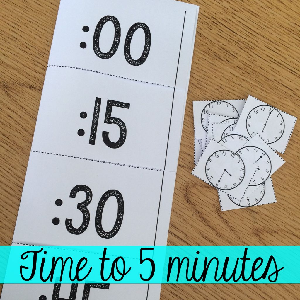 Time In 5 Minute Intervals Activities And Printables