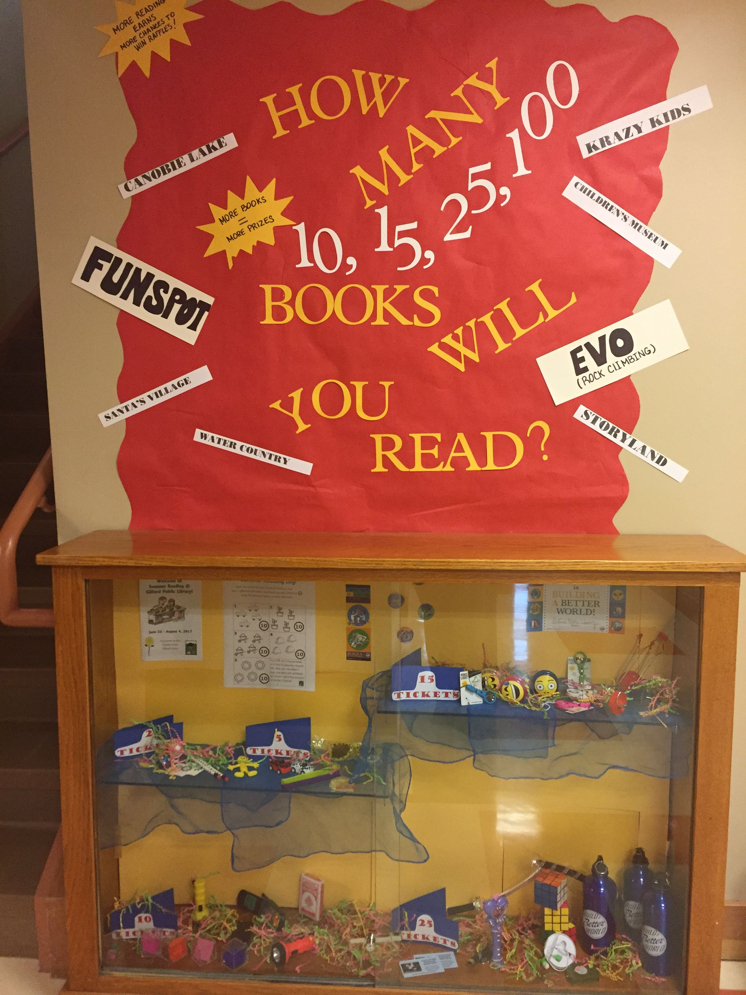 Library Display Case For Summer Reading Library Displays Summer