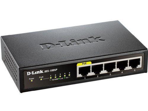 D-Link DES 1005P - switch - 5 ports - unmanaged by D-Link ...