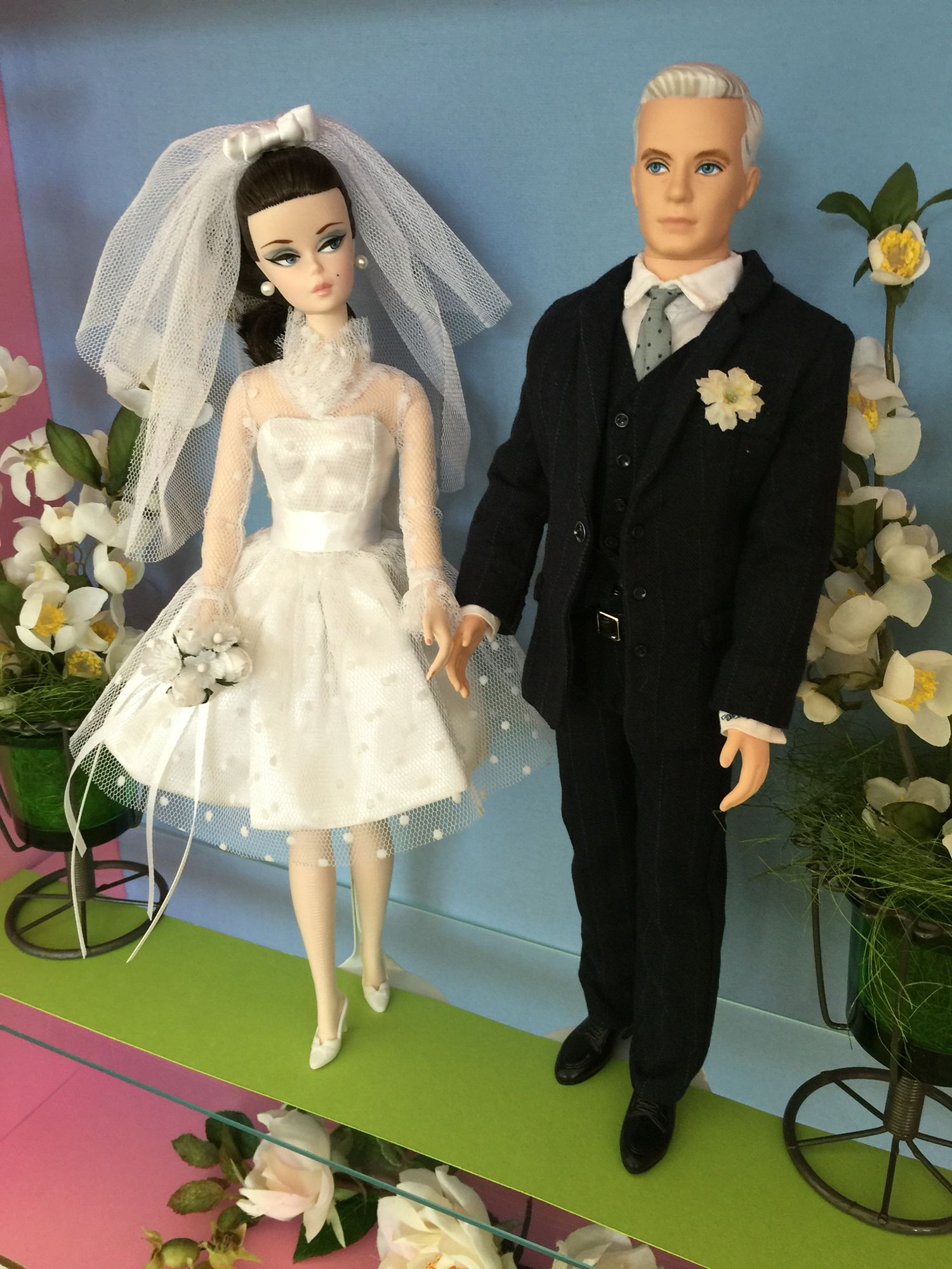 Blush Beauty Barbie and Roger Sterling Mad Men Wedding Day