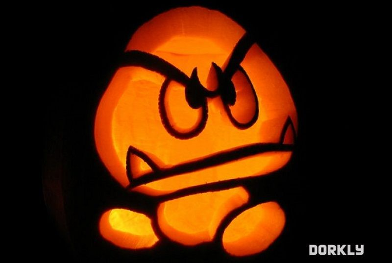 Free Goomba Pumpkin Carving Template