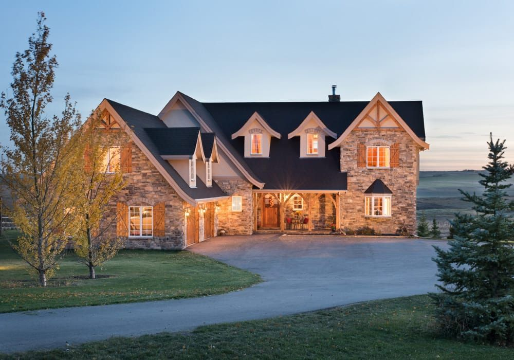 Airdrie, Alberta Timber Frame Home Exterior | z House | Pinterest