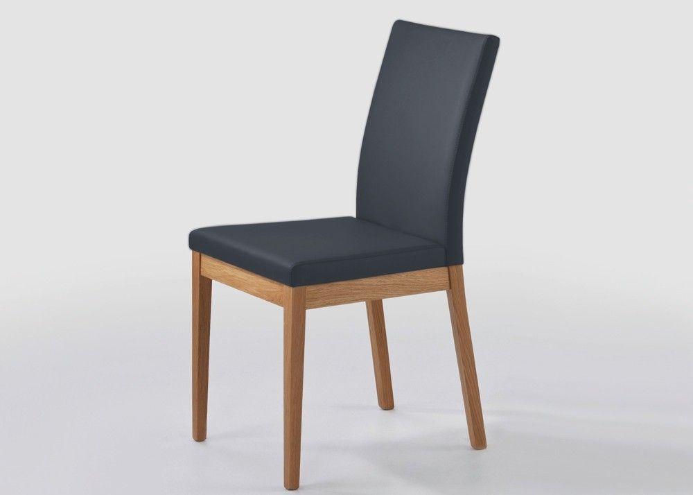 Stuhl Oviedo Holz Wildeiche Massiv Bezug aus Kunstleder Schwarz - küchenstuhl weiß holz