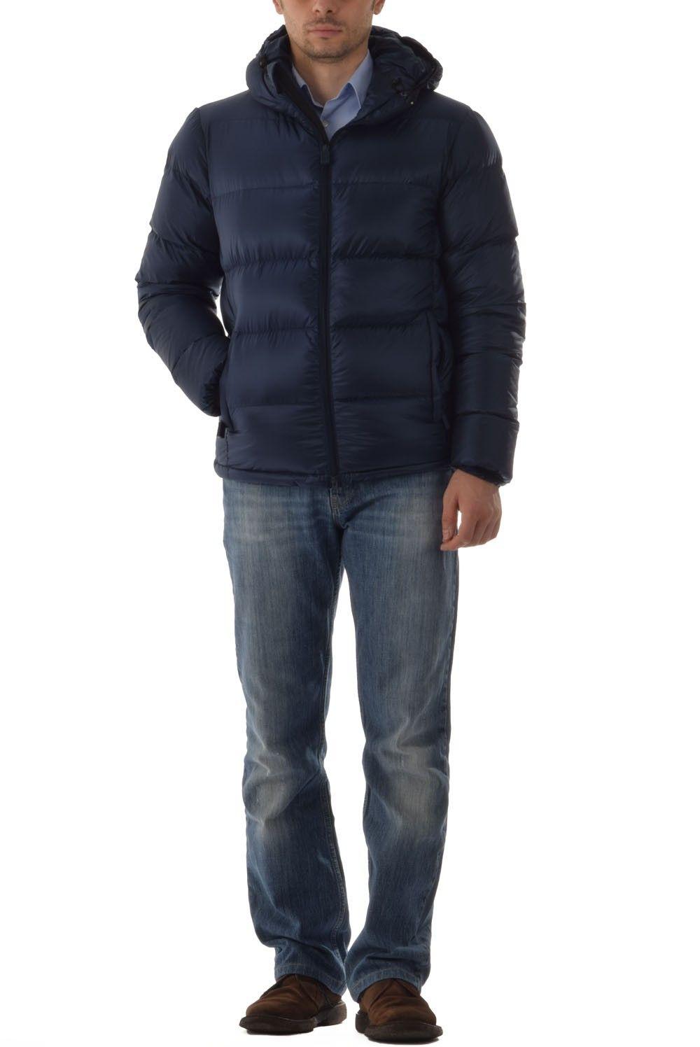 6c1375f40bd231 Piumini invernali Uomo Aspesi - Piumino invernale con cappuccio modello AXE  HOOD articolo 7I49