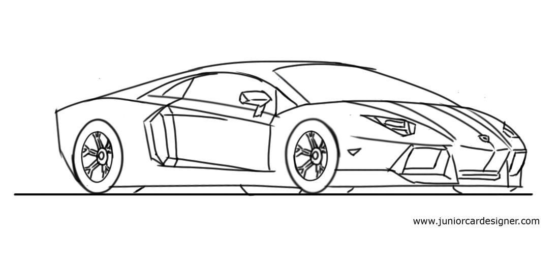 step by step how to draw a honda