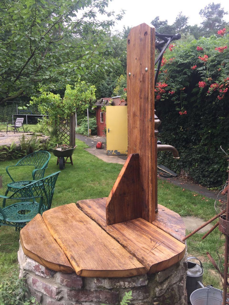 Brunnen Mit Schwengelpumpe Eigenbau Garten Brunnen