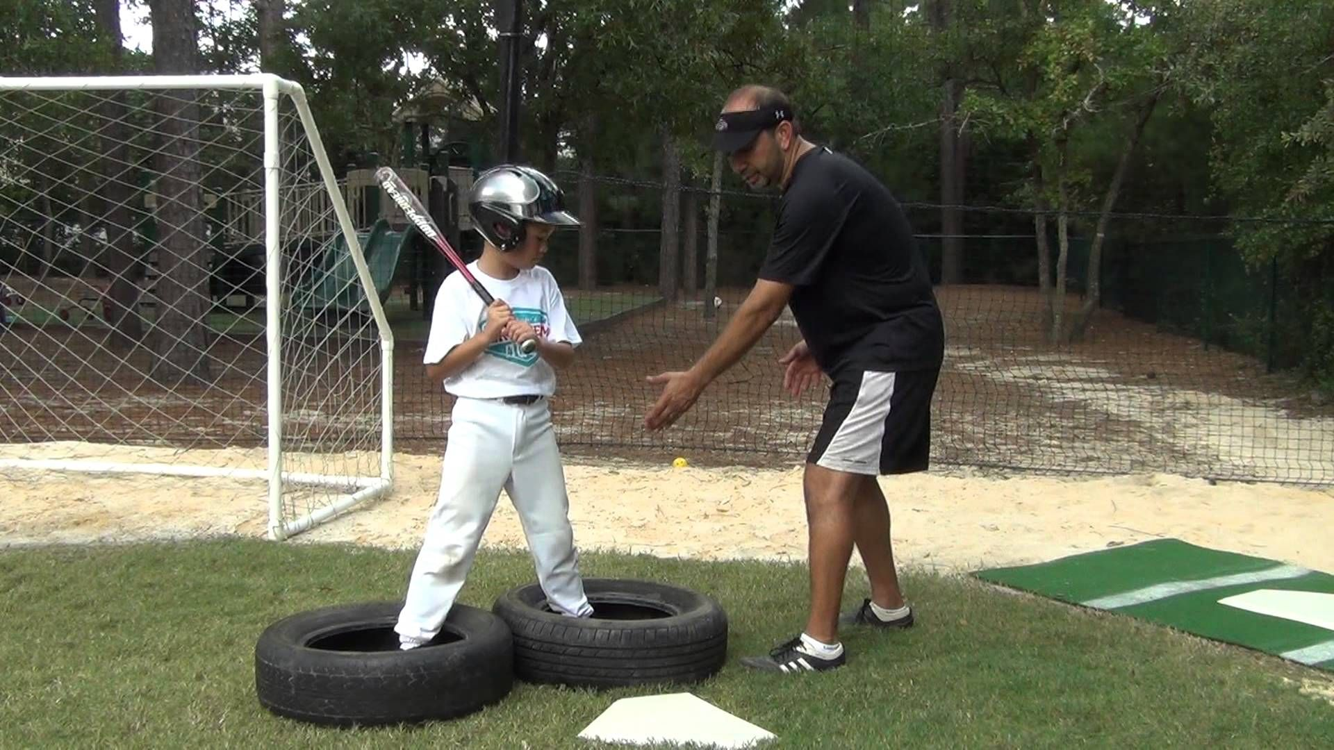 Tire Weight Shift Batting Drill With Images Baseball