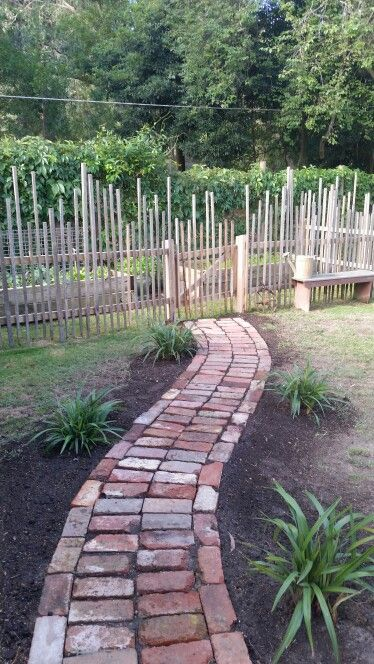 Our Rustic Vegetable Garden Fence And Path Not Quite Finished As It Still Needs A Mail Box Near The Gate To Hold Tools Etc